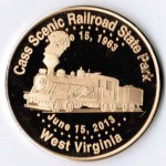 Railroad State Park West Virginia Coin